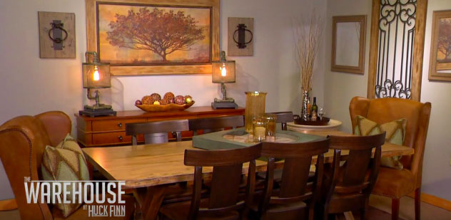 How to combine your furniture with a live edge rustic dining table