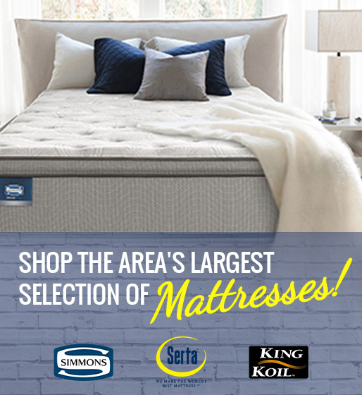Shop the area's largest selection of mattresses