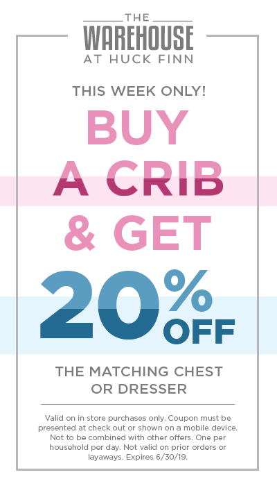 Buy a Crib and get 20% off the matching chest or dresser